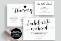 Bachelorette Weekend Invitation Download, Bachelorette With Regard To Amazing Bachelorette Weekend Itinerary Template