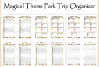 Free Printable Disney Week Itinerary Template   Calendar Pertaining To Disney World Itinerary Template