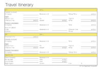 Free Printable Itinerary | Free Printable For Free Group Travel Itinerary Template