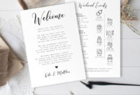 Wedding Day Itinerary Template, Welcome Letter, 100% With Wedding Welcome Itinerary Template