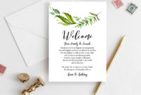 Wedding Weekend Itinerary Template Welcome Bag Tag Note | Etsy Pertaining To Fascinating Wedding Welcome Bag Itinerary Template