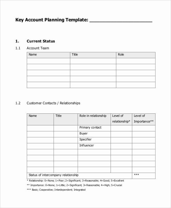 30 Account Management Plan Template In 2020 (With Images With Regard To Account Management Policy Template