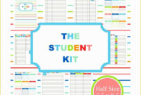 51 Student Planner Template Free Printable Within Professional Student Agenda Template