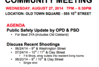 Aug 27 2014 :: Community Meeting | Old Oakland Neighbors Throughout Top Meet And Greet Meeting Agenda