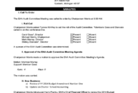 Committee Meeting Minutes Template 7 Free Templates In Throughout Audit Committee Meeting Agenda
