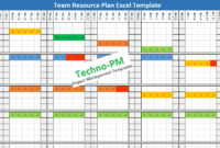 Excel Based Resource Plan Template Free Download   Project Intended For Capacity And Availability Management Template