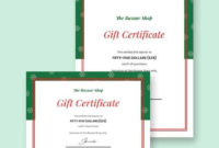 Free 11+ Gift Certificate Templates In Ai   Indesign   Ms Regarding Publisher Gift Certificate Template