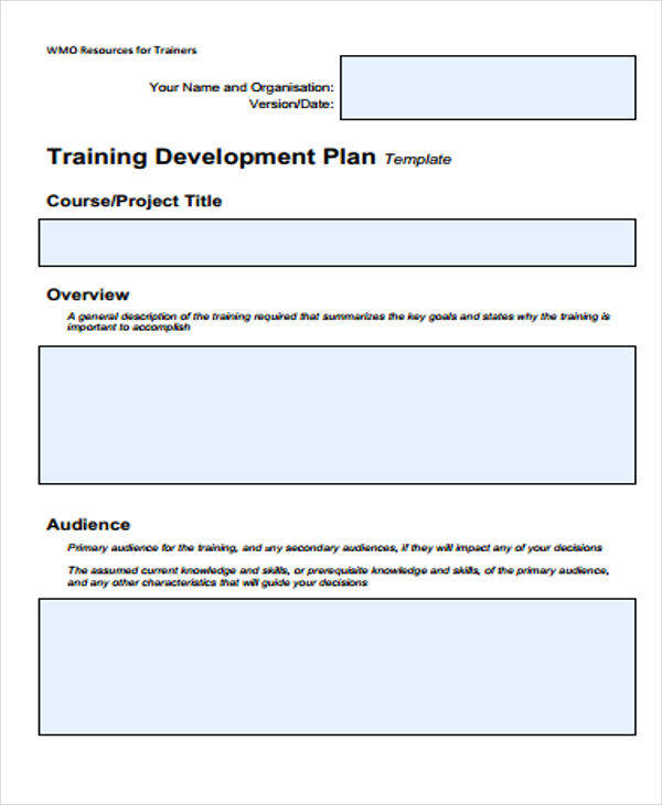 Free 8+ Training Plan Samples & Templates In Pdf   Ms Word For Professional Training Proposal Template