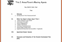 Free Business Meeting Agenda Template Word Andrew Gunsberg With Regard To Agenda For Church Business Meeting