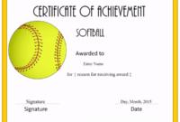 Free Softball Certificate Templates Customize Online Within Softball Certificate Templates