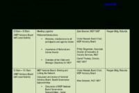 Kostenloses Advisory Board National Meeting Agenda In Fascinating Advisory Board Meeting Agenda Template