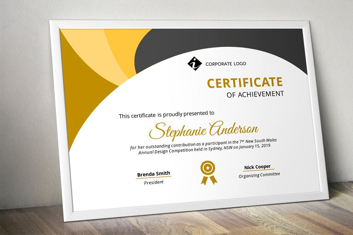 Powerpoint Certificate   Stationery Templates, Creative Regarding Powerpoint Certificate Templates Free Download