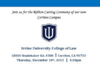 The Ribbon Cutting Ceremony Of Our New Cerritos Campus In Ribbon Cutting Ceremony Agenda