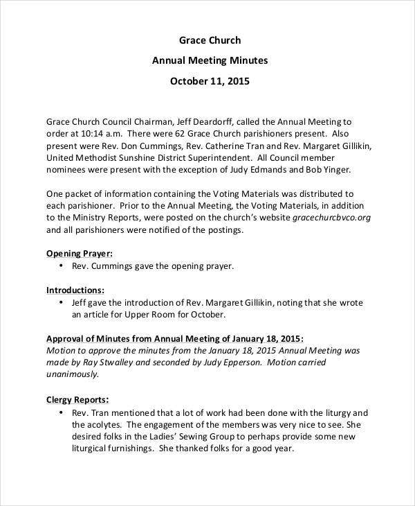 11+ Church Meeting Minutes Templates Word, Apple Pages In New Agenda For Church Business Meeting