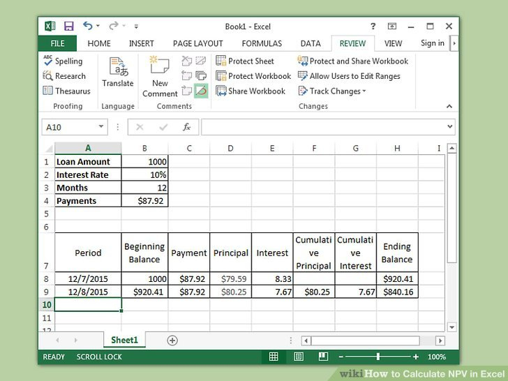 How To Calculate Npv In Excel: 9 Steps (With Pictures Pertaining To Net Present Value Excel Template